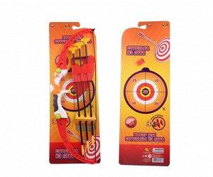Игровой набор ABtoys Лук со стрелами на присосках, в наборе 3 стрелы с держателем и лук955