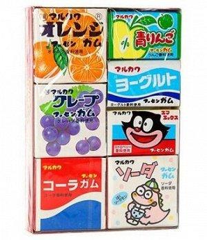 Резинка жевательная Marukawa Ассорти из 7 вкусов, 36,6 г.