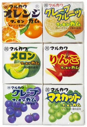 Резинка жевательная Marukawa Ассорти из 6 фрукт.вкусов, 32,4 г