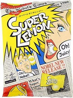 680235 Nobel леденцы Супер Лимон, со вкусом сочного лимона, 88гр., 6шт Арт-80235