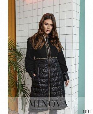 Пальто №350-1-черный