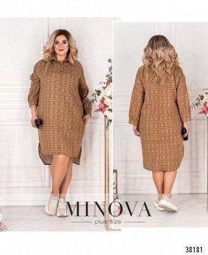 Платье №763СБ-коричневый