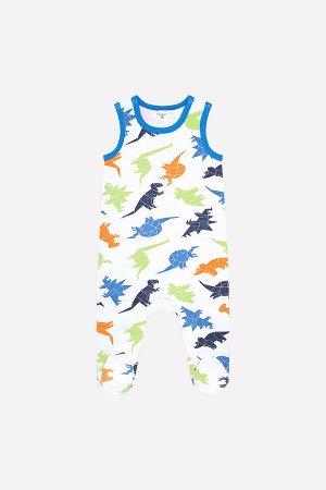 Ползунки(Осень-Зима)+baby (динозавры на белом)