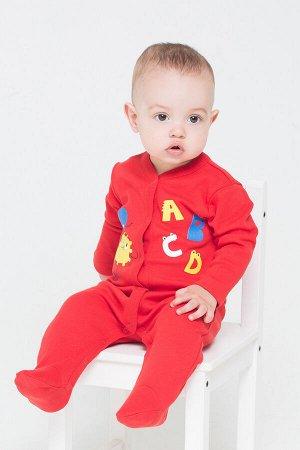 Комбинезон(Осень-Зима)+baby (насыщенно-красный(динозавры))