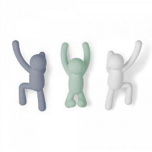 Вешалки-крючки buddy 3 шт. разноцветные мятные Umbra FD-318165-370