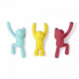 Вешалки-крючки buddy 3 шт. разноцветные яркие Umbra FD-318165-022
