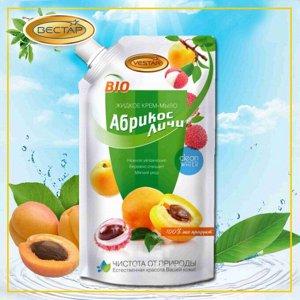 """Крем-мыло жидкое """"Абрикос и личи"""" 500 мл (мягкая упаковка)"""