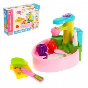 Игровой набор «Раковина», с аксессуарами, из крана течёт вода