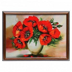 """Картина """"Маки в вазе"""" 25х35 см (28х38см)"""