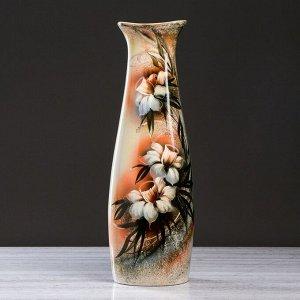 """Ваза напольная """"Диана"""", нарциссы, цветы, роспись, 67 см, микс, керамика"""