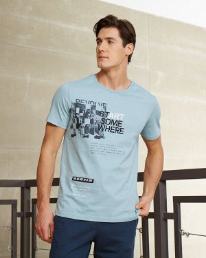 Фуфайка (футболка) муж BeGood SS20MJ227 серая мята