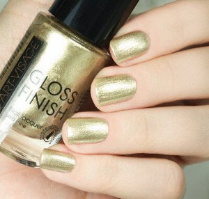 Лак AV д/ногтей Gloss Finish №116 золотая крошка