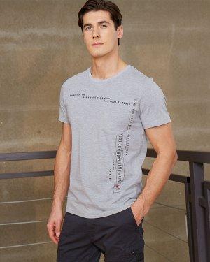 Фуфайка (футболка) муж BeGood SS20MJ230 серый/меланж