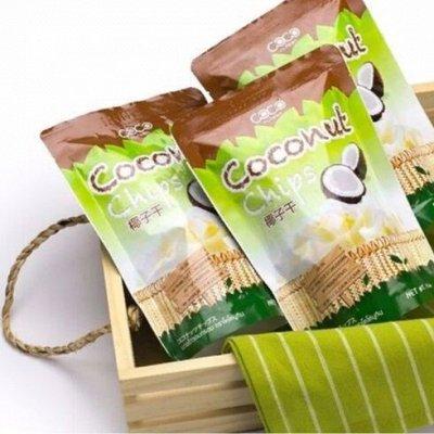 Кокосовая TRОPICАNA - Дар тропического рая *Быстрая доставка — Кокосовые чипсы / салфетки  влажные — Ароматерапия
