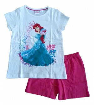 Комплект для девочки Disney футболка+шорты