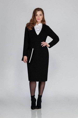 Платье Платье Anna Majewska М-1308Lb  Состав ткани: ПЭ-68%; Шерсть-32%;  Рост: 170 см.  Комфортное женское платье-футляр, выполненное из текстильного полотна. Вырез горловины V-образной формы с имита