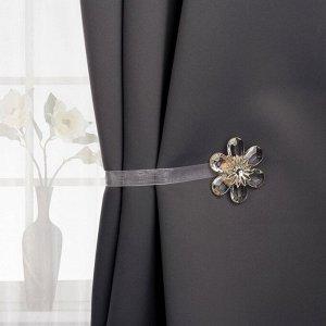 Подхват для штор «Цветок нежный». d = 5.5 см. цвет белый