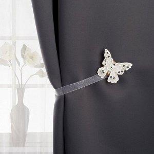Подхват для штор «Бабочка красавица». 5 ? 5 см. цвет белый