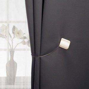 Подхват для штор «Квадрат перламутровый». 4 ? 4 см. цвет белый
