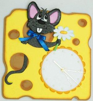 """Часы из фоамирана """"Мышонок"""" набор для творчества5"""