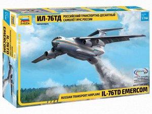 Сборная модель ZVEZDA Самолет Ил-76ТД МЧС7