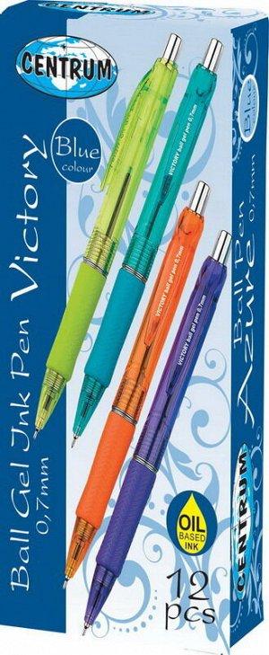 """Ручка шариковая """"VICTORY"""". Чернила на масляной основе, эргономическая резинка, диаметр шарика 0,7 мм, цвет чернил синий.4"""