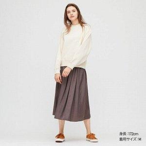Драпированная юбка (длина 81-85см), темно-серый