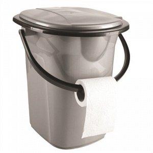 Ведро - туалет, 19 л, пластик, серебро