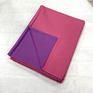 Пододеяльник Двуспальный комбинированный Тёмный розовый\Фиолетовый