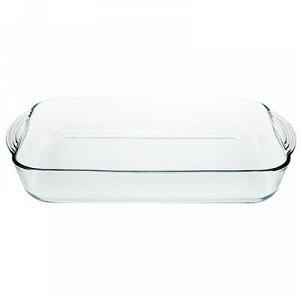 """""""Боркам (Borcam)"""" Форма стеклянная жаропрочная 3,85л, 40х25х6см, прямоугольная, с ручками, цветная коробка, Pasabahce (Турция)"""