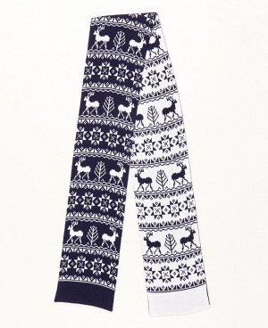 Шарф SCN Шарф с модным скандинавским орнаментом, гарантированно поднимет настроение и не оставит равнодушными ваших друзей и близких. В настоящее время шарфы с оригинальным, сказочным узором настолько
