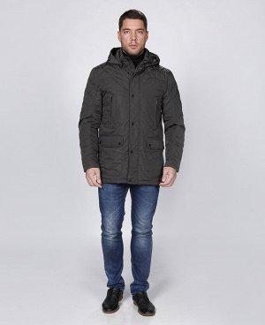 . Коричнево-зеленый;    Куртка мужская 57152 Шесть наружных карманов, три внутренних кармана, отстегивающийся капюшон, длина позволяет носить куртку с пиджаком. Состав верх: 100% - полиэстер Подклад