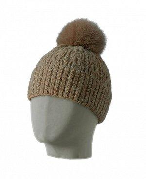 Шапка VITA Модель: VITA Размер: универсальный  Описание модели: женская шапка с меховым помпоном с подкладкой выполненной из поликолона - инновационного продукта австрийской Компании Schoeller, этот м