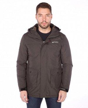 . Темно-серый; Кофейный; Темно-синий; Темно-зеленый;    Куртка POO 8038   Стильная мужская куртка, четыре наружных кармана, два внутренних кармана (один из них на молнии), двухсторонняя основная