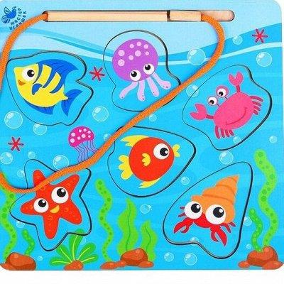 Мир развивающих игрушек Wood Toys™ — Магнитные игрушки и рыбалки * Есть алфавит и пазлы — Деревянные игрушки