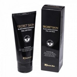 Чёрная маска-плёнка SecretSkin Black head cleaning peel-off pack 100 ml
