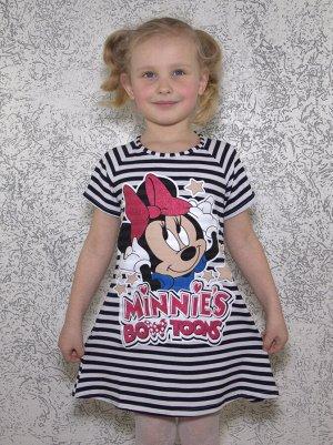 Платье полосатое Минни .