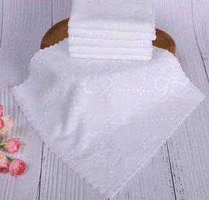 Белое полотенце из микрофибры в инд.упаковке, размер 25х25 см, 1 шт