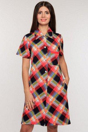 #51274 Платье-рубашка мульти