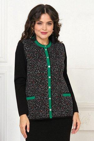 #92425 Жакет (Ankoli) Черный/зеленый