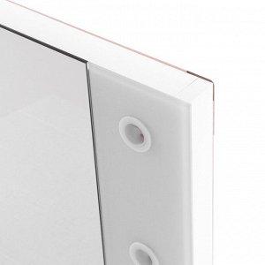 Зеркало «Этюд», гримёрное, настенное, 8 лампочек, 80х60 см
