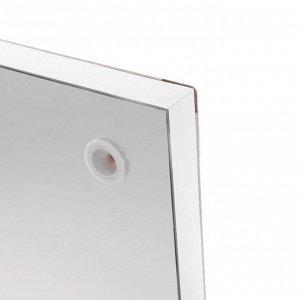 Зеркало, гримёрное, настенное, 18 лампочек, 100х120 см