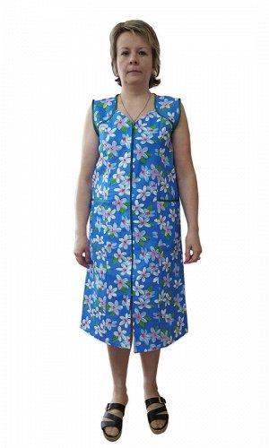 Сарафан Сарафан женский из цветной бязи, хлопок 100% плотность 125г/м2, короткий рукав, на молнии. Размеры от 46 до 60. ГОСТ 25294-2003. Минимальный заказ - 10 ед на размер.