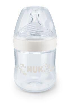 """NUK Nature Sense Бутылочка из ПП 150 мл с соской из силикона, с отв. """"S"""", разм.1, белая"""