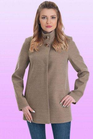 Бежевый Стильная модель женственного покроя. Каждая деталь этого короткого пальто основательно продумана, чтобы обеспечить идеальный баланс между стилем и комфортом. Потайная застежка и две декоративн
