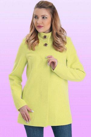 Лайм Стильная модель женственного покроя. Каждая деталь этого короткого пальто основательно продумана, чтобы обеспечить идеальный баланс между стилем и комфортом. Потайная застежка и две декоративные