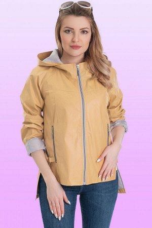 Горчичный Оригинальная модная ветровка- универсальная вещь в вашем гардеробе. Современная линия низа, фурнитура и цвета, а также контрастный подклад изделия делают его несомненно модной штучкой. Объем
