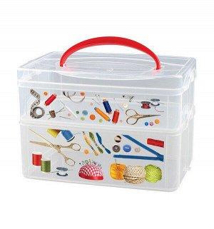 """Коробка универсальная с ручкой и декором""""Multi Box"""", 2 секции, 165 х 245 х 160 мм 1/9"""