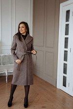 Пальто женское демисезонное 21930  (розовый меланж)