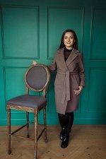 Пальто женское демисезонное 20990  (кофе)